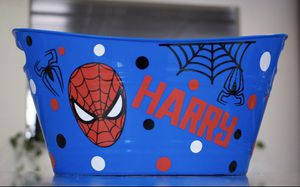 Spiderman Easter Basket Personalized for Sale in San Antonio, TX