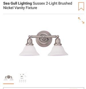 Sea Gull Lighting Sussex 2-Light Brushed Nickel Vanity Fixture for Sale in Wellesley, MA