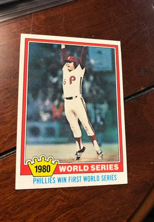 1981 Topps 404 World Series Philadelphia Phillies Celebration First World Series baseball ⚾️ card! for Sale in Hickory, NC