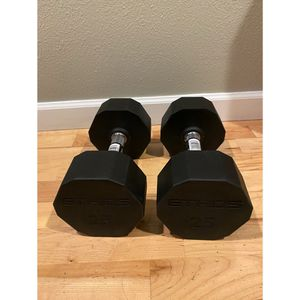 Rubber Hex Dumbbells - 25LB Pair for Sale in Seattle, WA