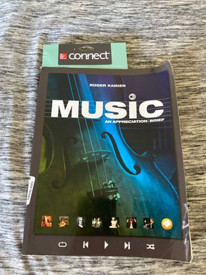 Music an appreciation by Roger Kamien CONNENT CODE INCLUDED for Sale in Vista, CA