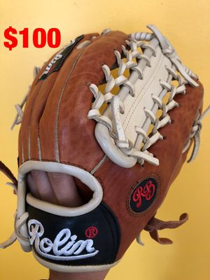Rolin pro baseball glove new condition quality leather equipment bats Rawlings easton Wilson mizuno demarini tpx Nike for Sale in Culver City, CA