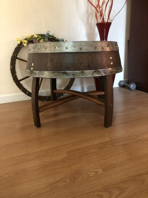 Solid oak Wine barrel End tables for Sale in Sunnyvale, CA