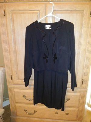 Formal black dress w/ embroidered jacket for Sale in Ruskin, FL
