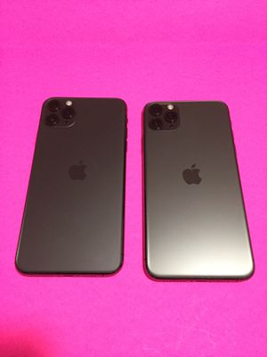 iPhone 11 pro max -256gb completely Unlocked for any carrier GSM+CDMA $2,100 both, $1,050 each no trade for Sale in Sacramento, CA
