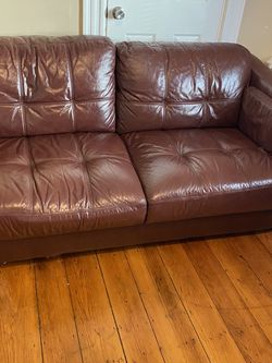 3 Piece Leather Couch for Sale in Milton,  MA