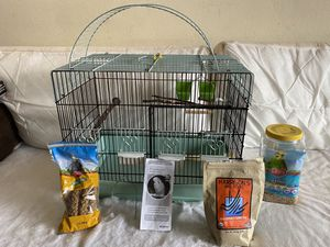 Bird cage and accessories for Sale in Salem, OR