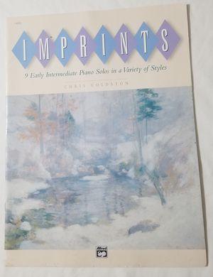 Imprints intermediate Piano solos Chris Goldston Music Book for Sale in Three Rivers, MI