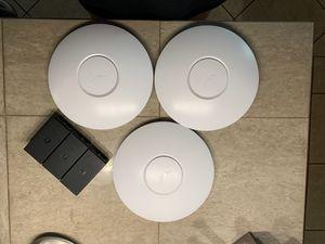 Set of 3 UniFi AP WiFi Access Points w/ PoE adapters for Sale in San Bernardino, CA