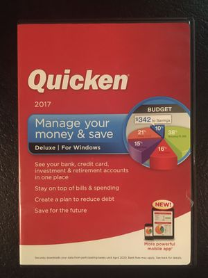 Quicken Deluxe 2017 for Windows for Sale in Seattle, WA