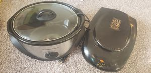 Crock pot and George foreman grill for Sale in North Royalton, OH