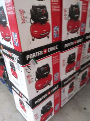 PORTER CABLE CORDED 6 GALLONS AIR COMPRESOR LIKE NEW for Sale in San Bernardino, CA
