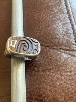 """Silpada Wood Sterling """"live Life To The Fullest"""" Ring Size 6 for Sale in Nashville,  TN"""