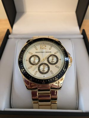 BRAND NEW Geoffrey Beene Watch For MEN'S, Gold Color for Sale in Stone Mountain, GA