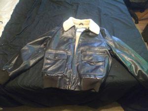 Levi's Black Leather Jacket Faux Fur inside for Sale in Pensacola, FL