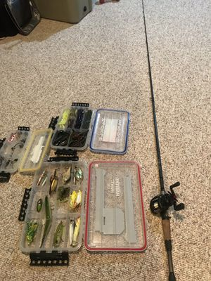 13 fishing omen black with revo sx reel for Sale in Wind Lake, WI