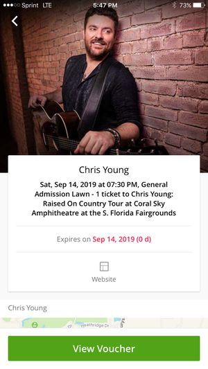Chris Young concert tickets for Sale in Stuart, FL