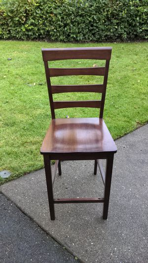 Wooden bar stool tall chair for Sale in Snohomish, WA