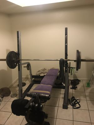 Olympic weight bench/squat rack for Sale in Glendale, AZ