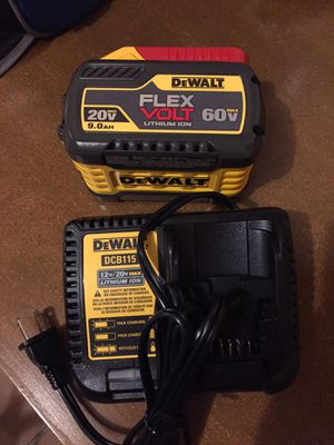 New Dewalt Flexvolt 9AH Battery and Charger Combo For Sale for Sale in Mukilteo, WA