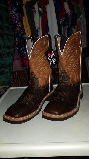 Brand New Men's Justin Boots- Botas Nuevas De Hombre for Sale in Dallas, TX