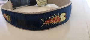 XL navy blue dog collar with attractive fish design for Sale in Murfreesboro, TN