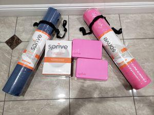 "Bundle Sprive 1 Excerise Ball 75cm gray or orange, 2 Block Planks & 2 Yoga Mat 27""x72"" for Sale in Rosemead, CA"