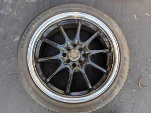 Set of (4) 18 inch Drag DR-9 4x100 Lug Pattern With 225/45/R18 Kumho Tires for Sale in Pomona, CA