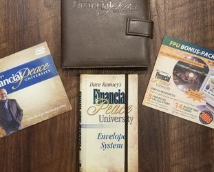 Dave Ramsey's Financial Peace University DVDs, CDs, wallet, envelopes for Sale in Tulare,  CA
