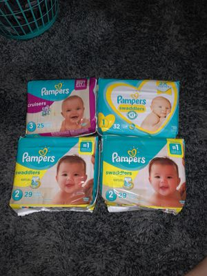 Pampers - assorted sizes - 4 pack $20.00 for Sale in Centreville, VA