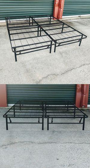 King-Size Foldable Platform Bed Frame for Sale in Durham, NC