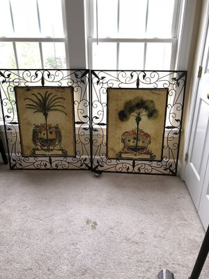 "Two huge metal hand painted wall art 34""X40"" $70 for one piece for Sale in Gainesville, VA"