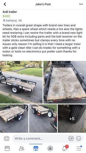 4x8 trailer for Sale in Richmond, VA