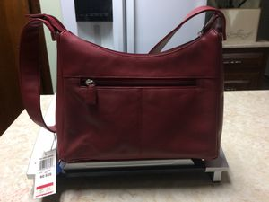 Charter Club Genuine Leather Red Hobo Shoulder Bag NWT for Sale in Murrysville, PA