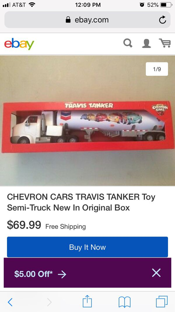 2005 Rare Collectable Travis The Tanker Toy. Box has little damage but toy is unopened and in perfect shape!! Great for Collection or gift for that