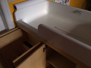 Kaplan Birch changing table with stairs for Sale in Freeport, NY