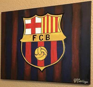 Original Barcelona Logo Painting for Sale in San Antonio, TX