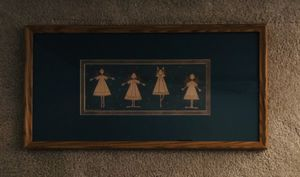 Ballerina Angels Photo Matted and Framed under Glass by Warren Kimble. 23 inches wide by 12 inches tall. for Sale in Raleigh, NC