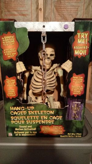 Halloween Shaking Skeleton in a Cage for Sale in Martinsburg, WV