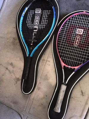 Wilson tennis rackets for Sale in Wildomar, CA