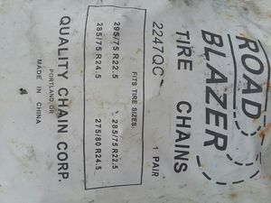Tractor trailer tire chains,2 pair for Sale in Kittanning, PA