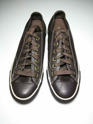 Converse All Star Size Mens5.5Womens 7.5Leather Espresso Brown Shoes for Sale in Florissant, MO