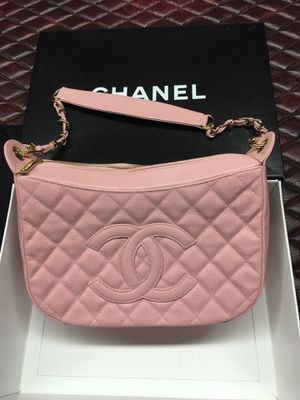 Chanel Camera Hobo Timeless Quilted Classic Mini Medium Sac Pochette Pink Caviar Leather Shoulder Bag for Sale in Trenton, NJ