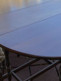 Round Fold Down Antique Table for Sale in Katy,  TX