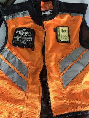 New orange mil-spec reflective motorcycle vest for Sale in Homestead, FL