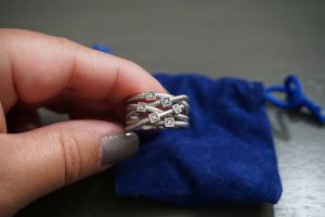 Silver ring with 5 small diamonds size 7 for Sale in Orlando, FL