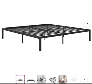 Full size black metal bed frame available BRAND NEW UNOPENED BOX for Sale in Miami, FL