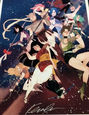 Kevin Wada Signed Print Sailor Moon for Sale in Fullerton, CA