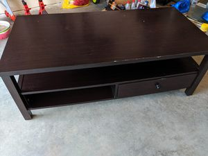 Used Coffee Table Dark Brown Free for Sale in Enola, PA