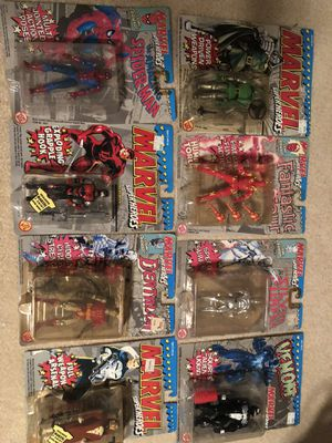 Marvel old gray carded figures silver surfer Spider-Man Venom for Sale in Stockton, CA
